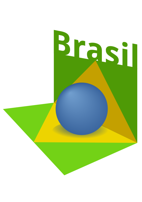 free vector Brazil flag art 3D