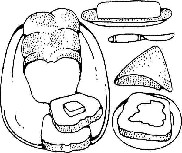 free vector Bread And Butter clip art