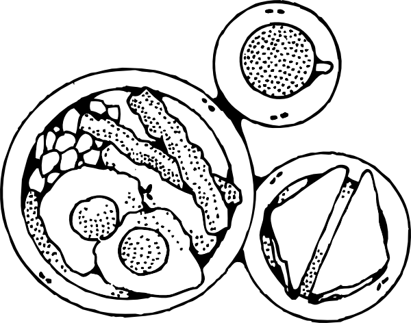 breakfast of bacon and eggs clip art free vector    4vector