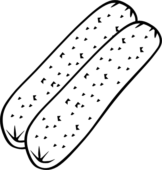 free vector Breakfast Sausage (b And W) clip art 113018