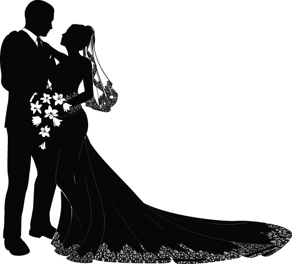 free wedding silhouette clip art - photo #20