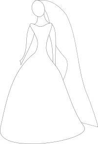 free vector Bride In Wedding Dress clip art