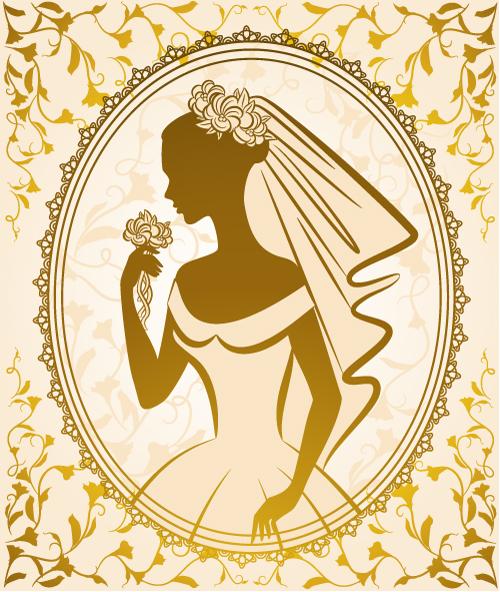 free vector Bride silhouette 04 vector