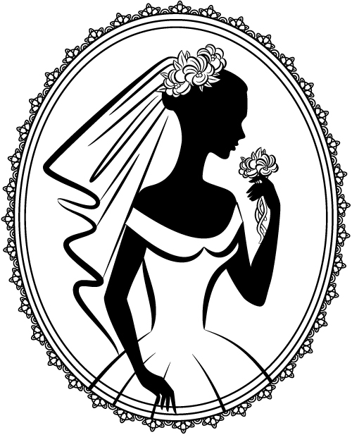 free vector Bride silhouette 05 vector