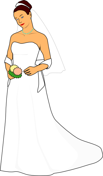 free vector Bride White Dress clip art