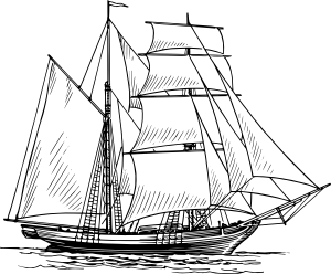 free vector Brigantine clip art