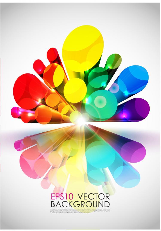 Bright 3d Graphics Vector Free Vector 4vector