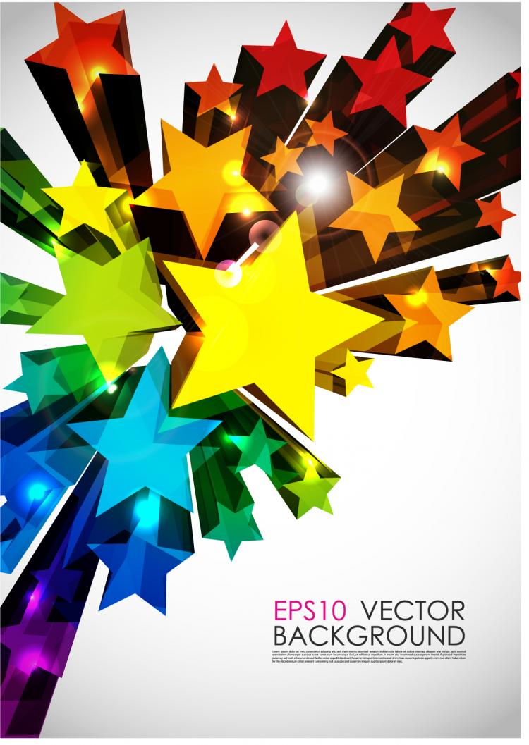 free vector Bright 3d graphics vector