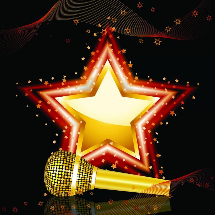 free vector Bright background of the microphone 01 vector