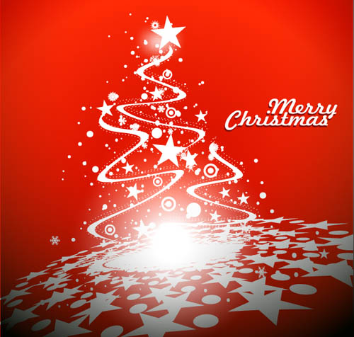 free vector Bright christmas background vector