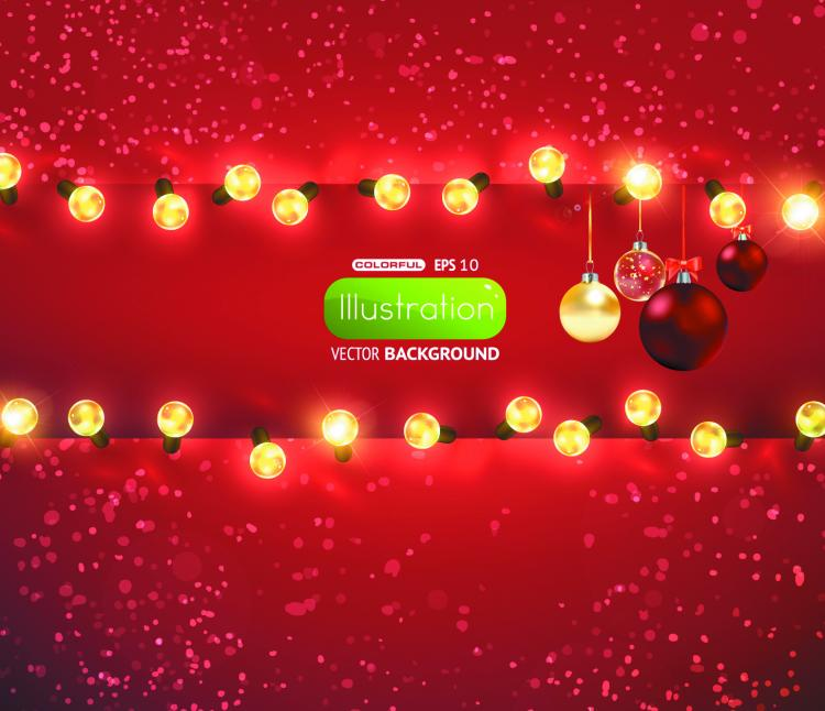 free vector Bright christmas lights background 01 vector