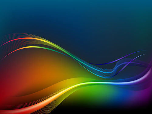 free vector Bright dynamic flow line 02 vector