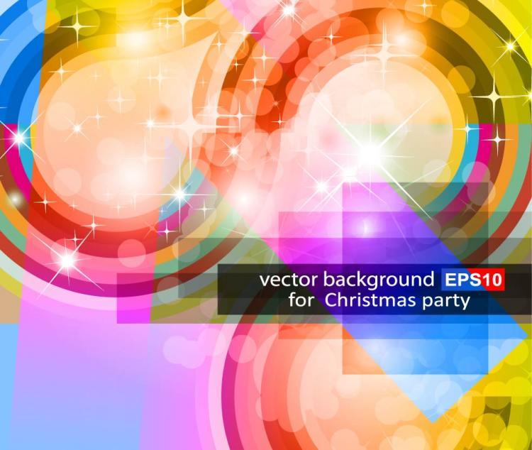 free vector Bright halo stars background 06 vector