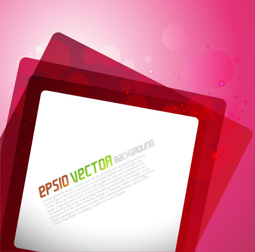 free vector Bright square advertising vector