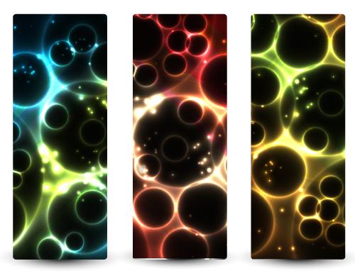 free vector Bright stars banner3 vector