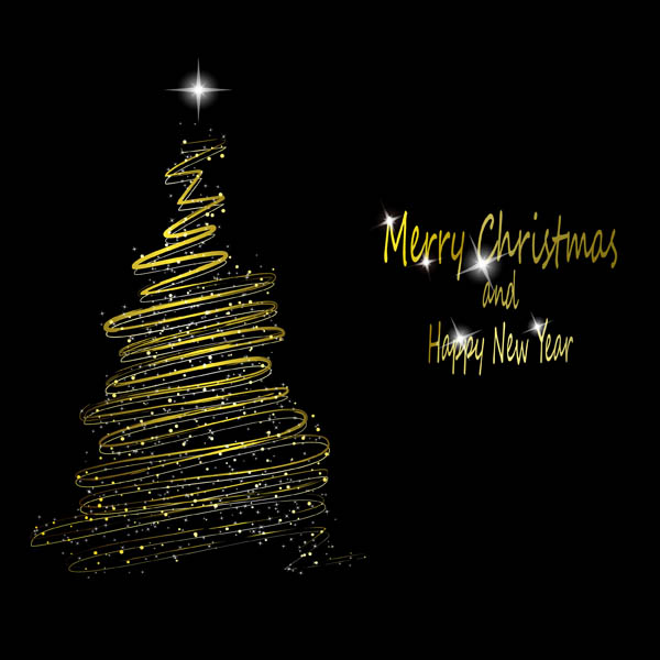 free vector Bright stars christmas tree vector 24972