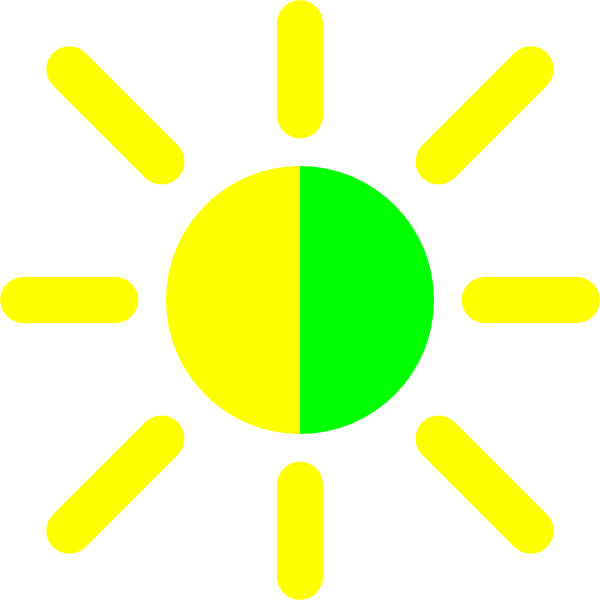 free vector Brightness Contrast Icon clip art