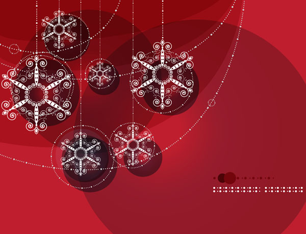 free vector Brilliant ball background vector