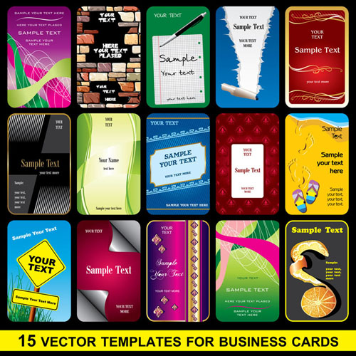 free vector Brilliant business card template 02 vector