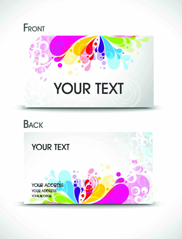 Brilliant Business Card Template Vector Material Beautiful Cards - Beautiful business card templates