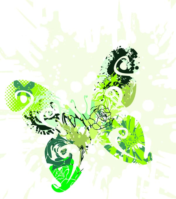 free vector Brilliant butterflies vector
