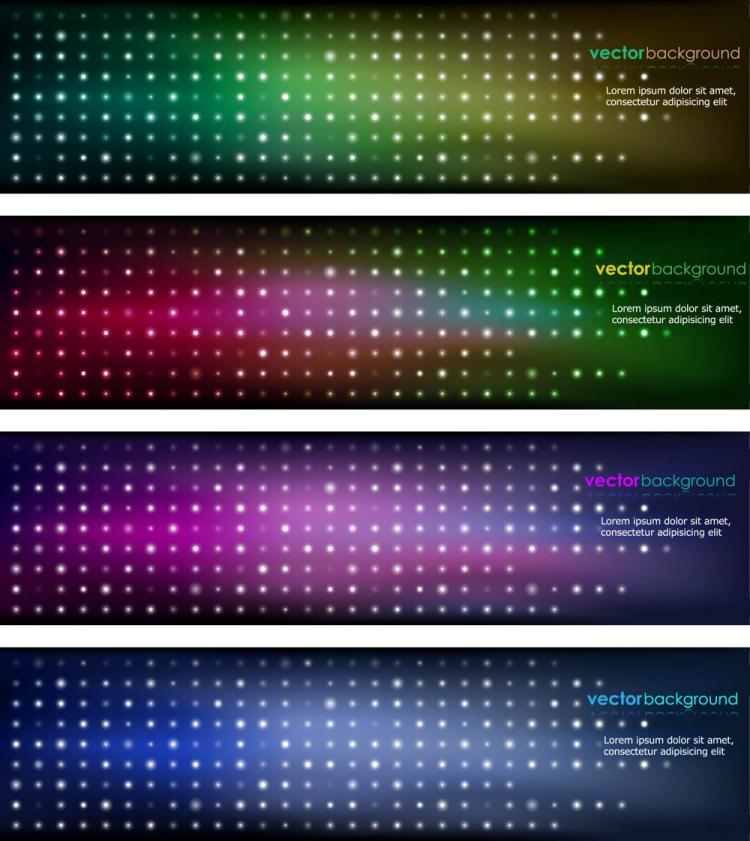 free vector Brilliant color banners 01 vector