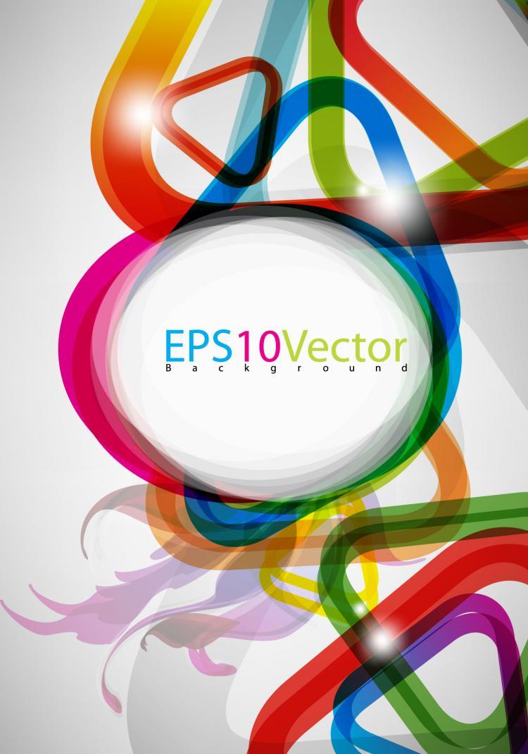 free vector Brilliant color circle 02 vector