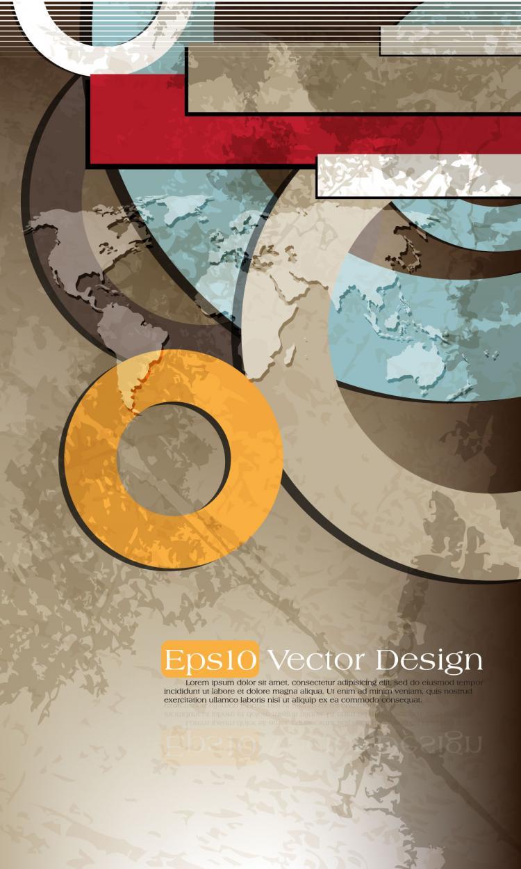free vector Brilliant color circle 03 vector