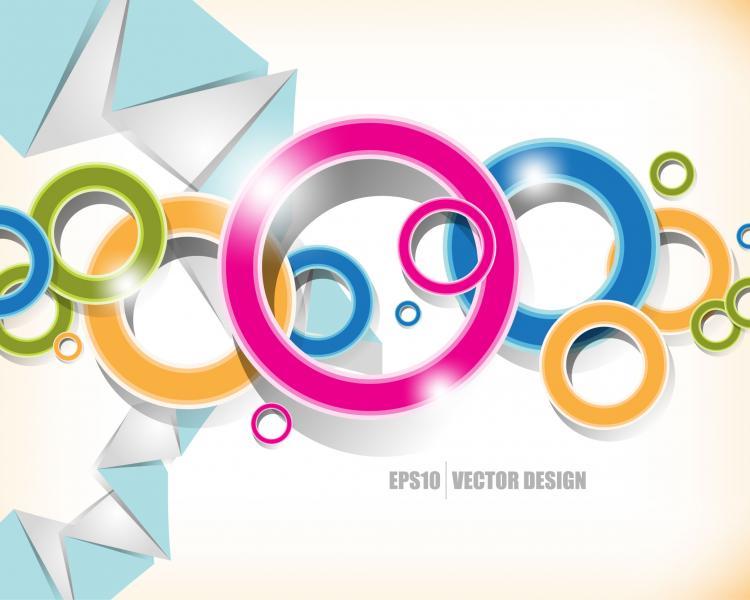 free vector Brilliant color circle 05 vector