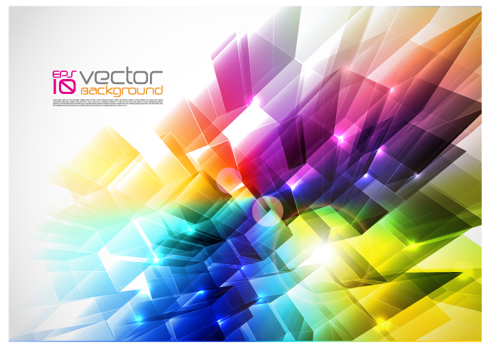 free vector Brilliant color dynamic background vector