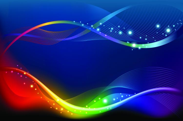 free vector Brilliant color dynamic flow line 02 vector