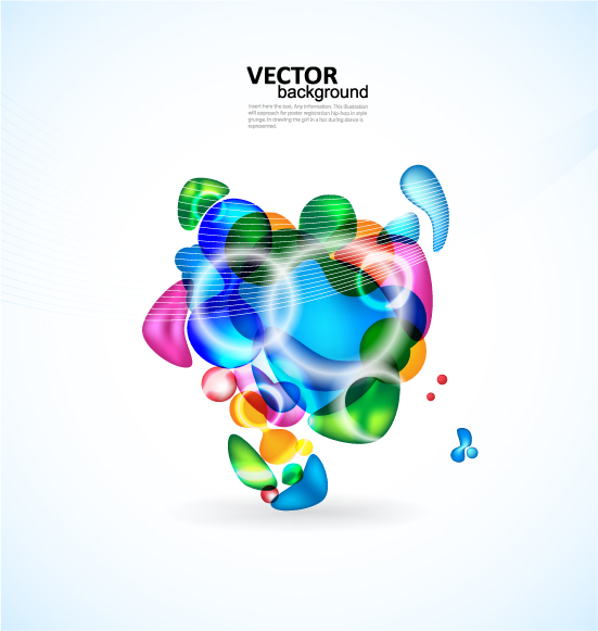 free vector Brilliant color elements vector