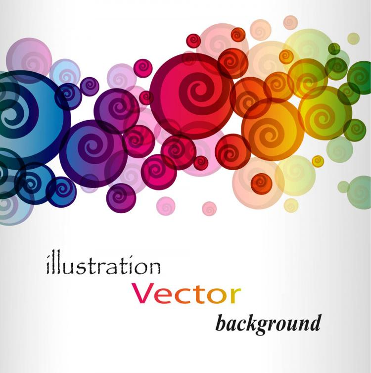 free vector Brilliant colorful loop pattern 01 vector