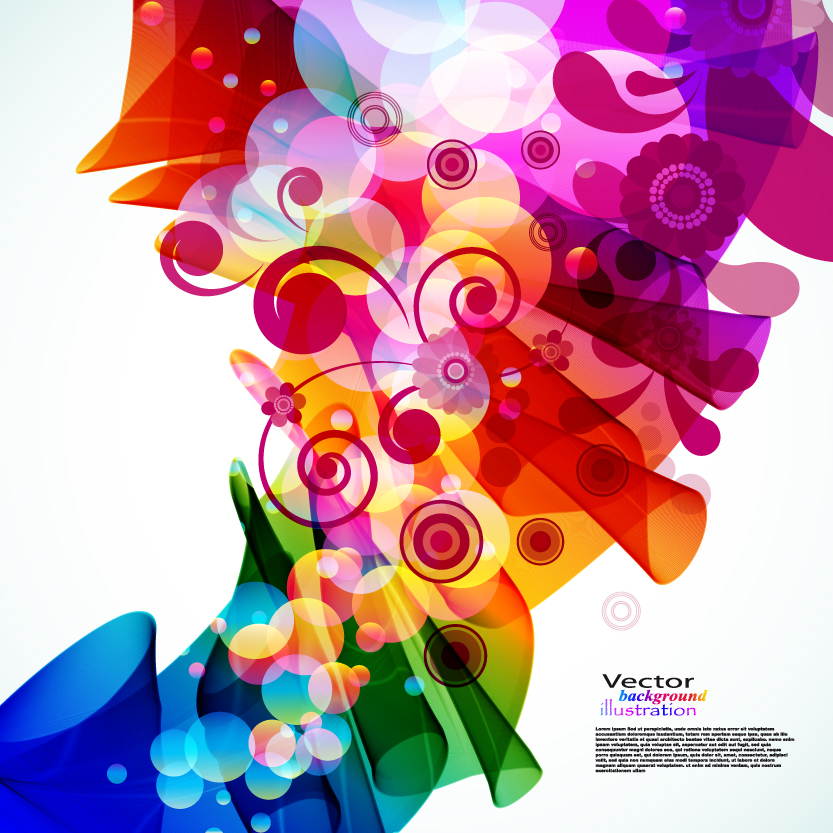 free vector Brilliant colorful loop pattern 02 vector