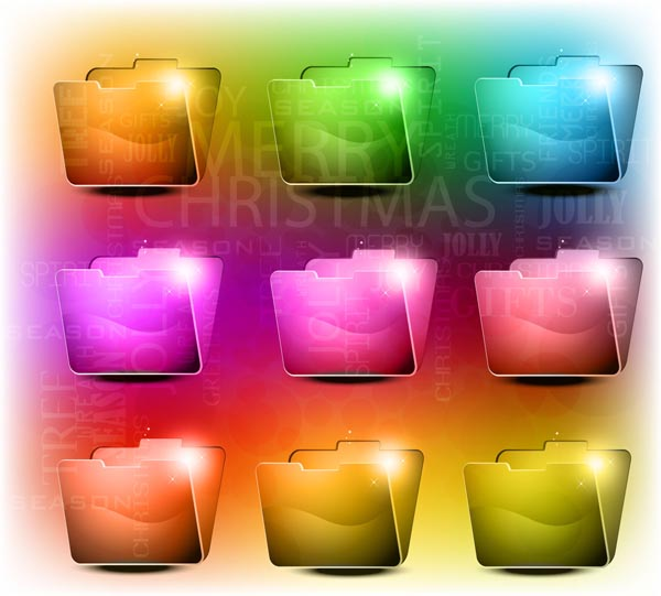 free vector Brilliant crystal texture folder vector