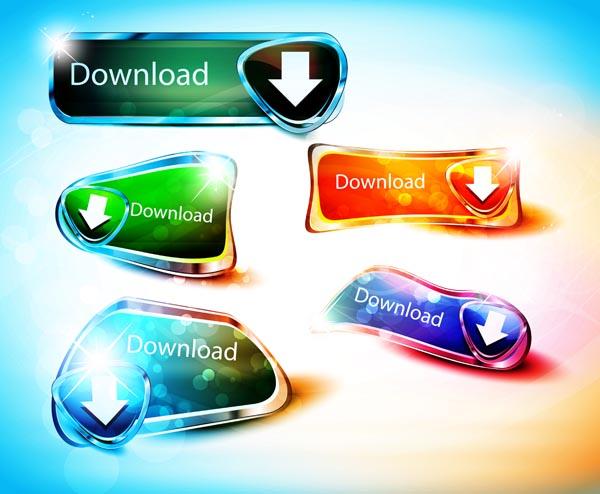 free vector Brilliant diamond texture button icons vector