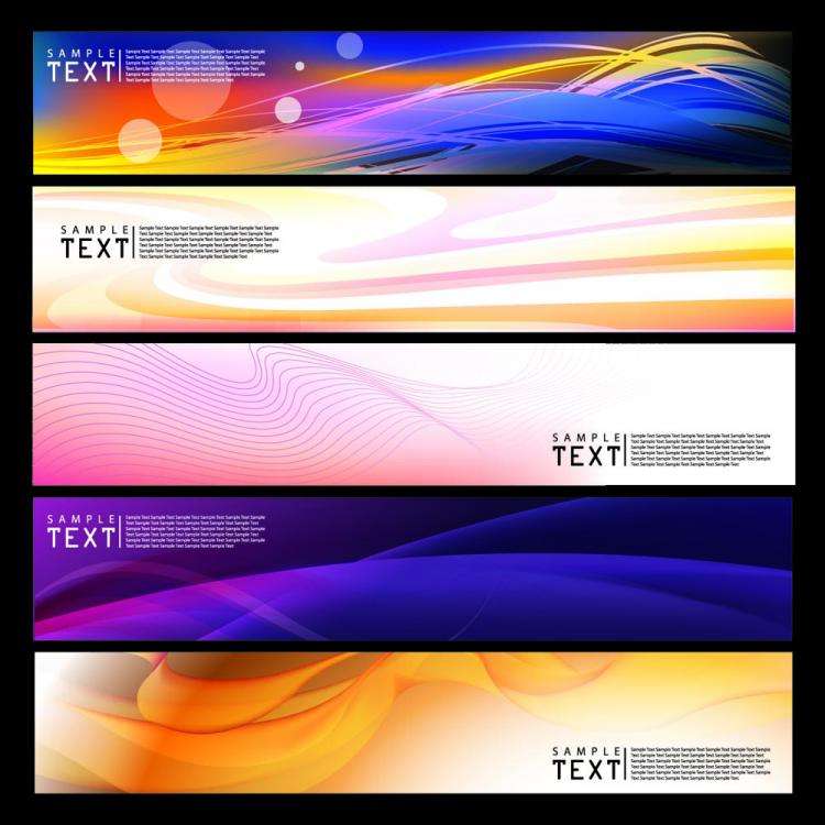 free vector Brilliant dynamic banner 01 vector