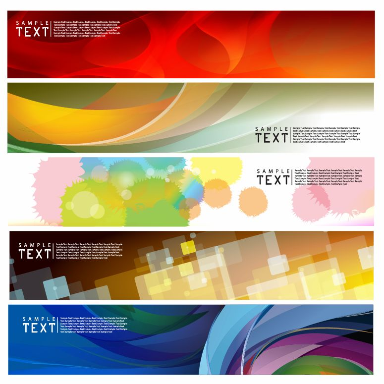 free vector Brilliant dynamic banners 02 vector