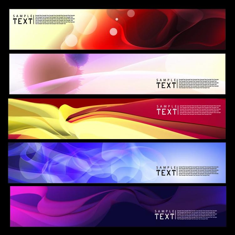 free vector Brilliant dynamic banners 03 vector
