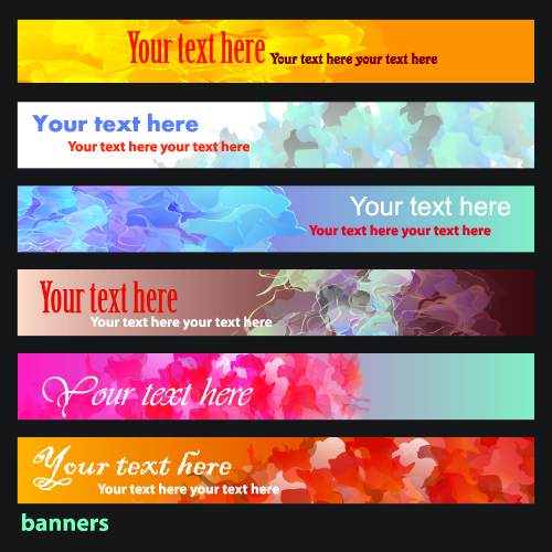 free vector Brilliant dynamic banners 06 vector
