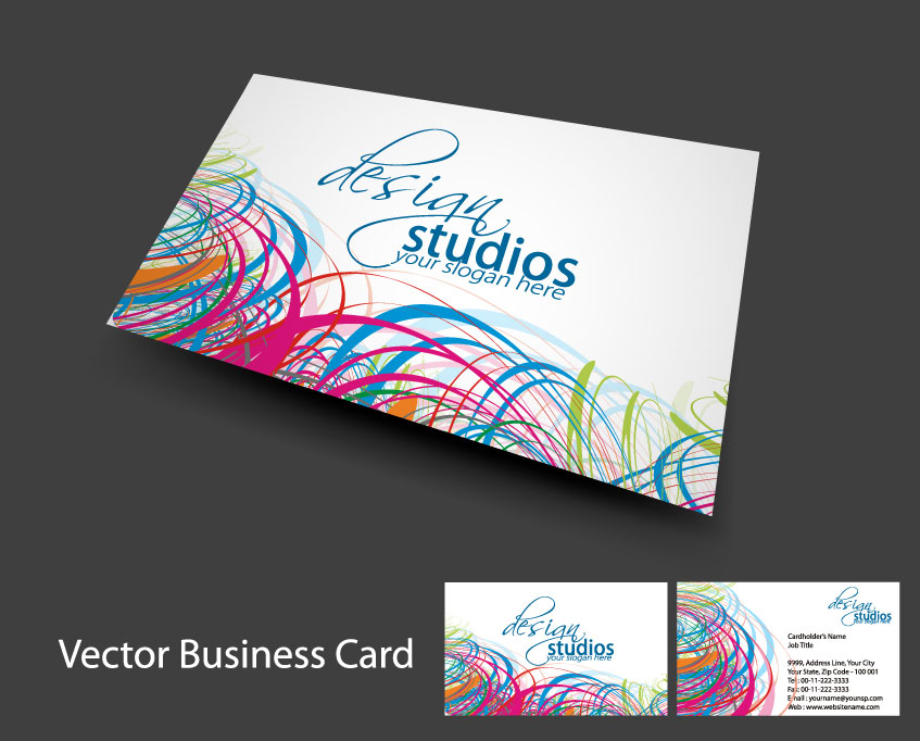 free vector Brilliant dynamic business card template 04 vector