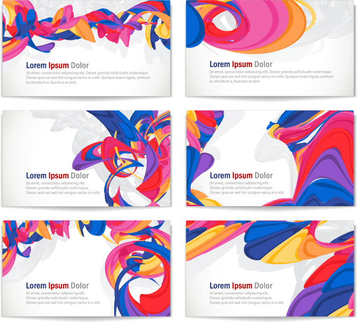 free vector Brilliant dynamic business card vector
