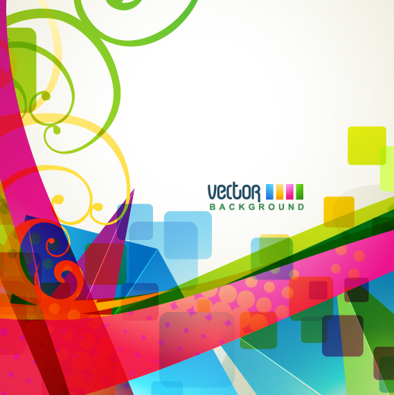 free vector Brilliant dynamic design background template vector 4