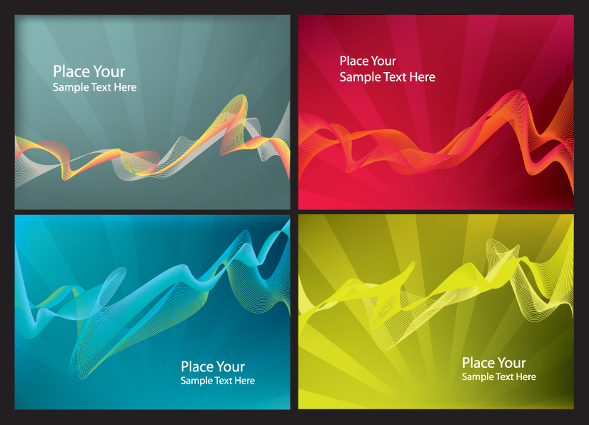 free vector Brilliant dynamic flow line card 02 vector