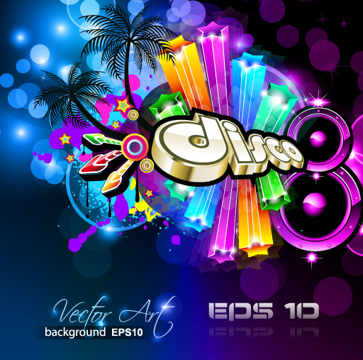free vector Brilliant dynamic musical elements 04 vector