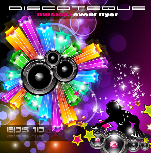 free vector Brilliant dynamic musical elements 05 vector