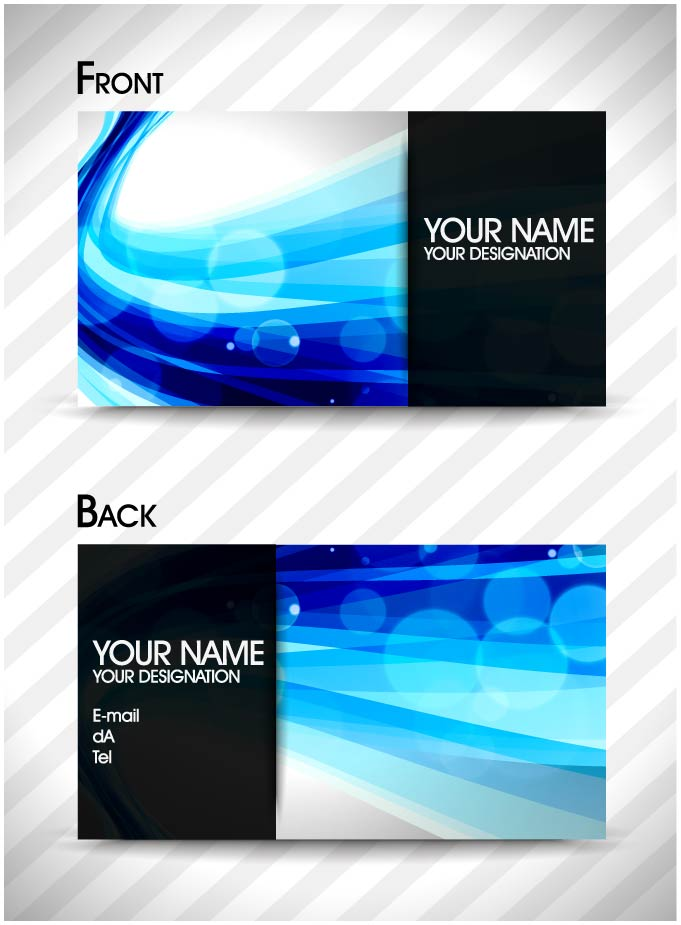 free vector Brilliant dynamic pattern card 02 vector