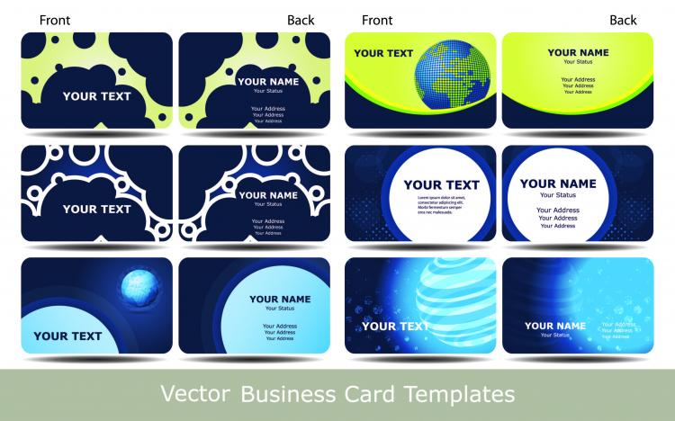 free vector Brilliant dynamic pattern card 03 vector
