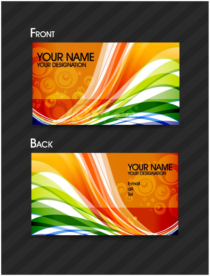 free vector Brilliant dynamic pattern cards 01 vector