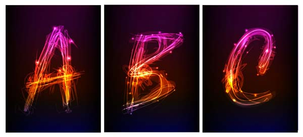 free vector Brilliant effects letters - vector